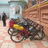 Велопарковка в церкви