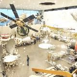 Вид на выставочный зал музея истории космонавтики