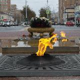 Вечный огонь на пл. Победы в Калуге
