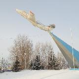 Самолет на углу пр. Туполева и пр. Ленинского Комсомола