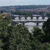 Вид на мосты через Влтаву