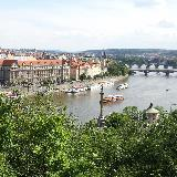 Вид на три моста через Влтаву