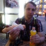 Ужинаю чешской колбаской