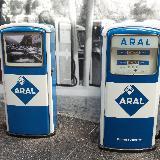 Колонки Aral. До сих пор в Германии существуют АЗС этого бренда