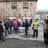 Митинг у гостиницы Урал
