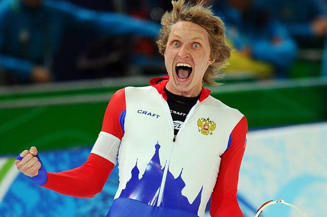 Радость спортсменов России на олимпиаде в Сочи