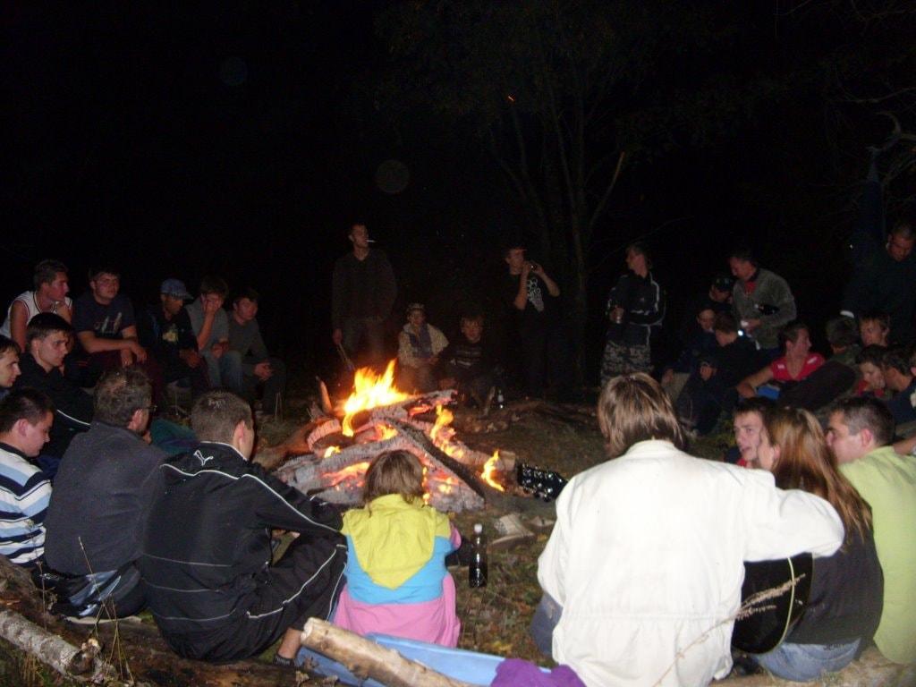 Общий лагерный костер
