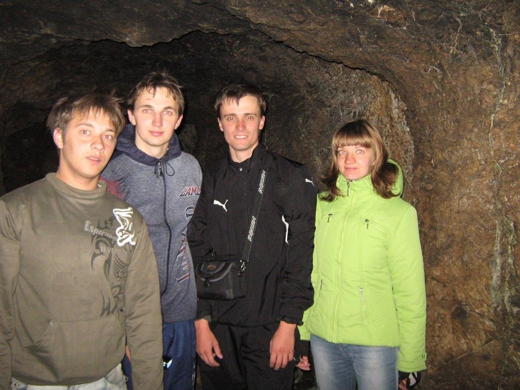 В пещере на забое