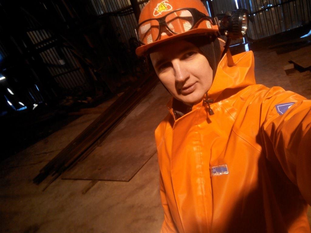 Перед спуском в шахту