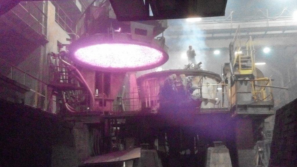Печь после выпуска стали